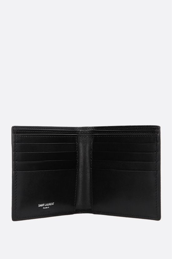 SAINT LAURENT: Monogram smooth leather billfold wallet Color Black_2