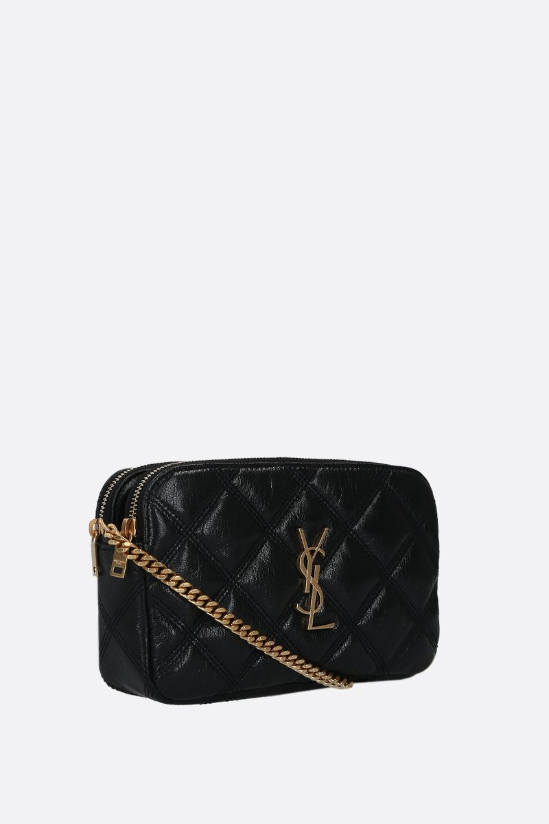 SAINT LAURENT: Becky quilted nappa chain wallet Color Black_2