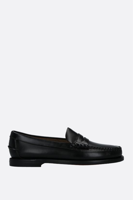 SEBAGO: Classic Dan shiny leather loafers Color Black_1