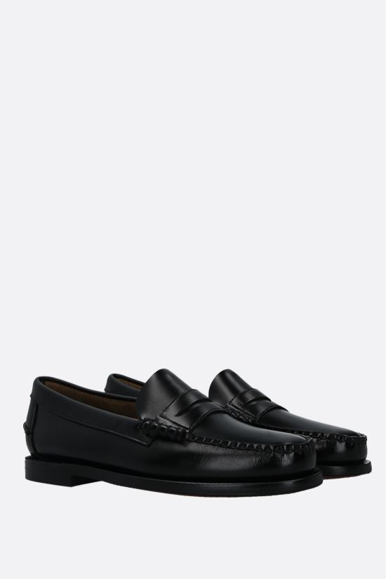 SEBAGO: Classic Dan shiny leather loafers Color Black_2