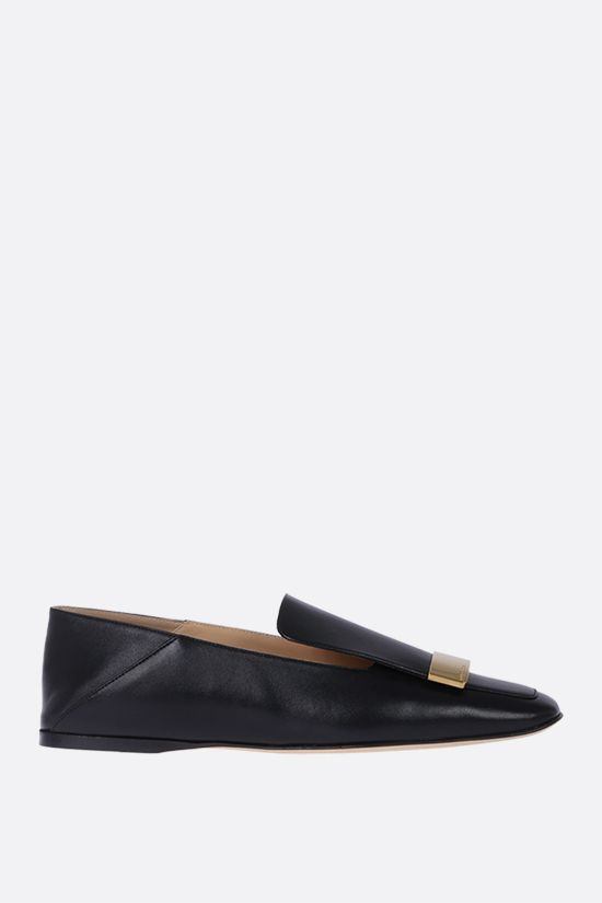 SERGIO ROSSI: slipper sr1 in morbida nappa Color Black_1