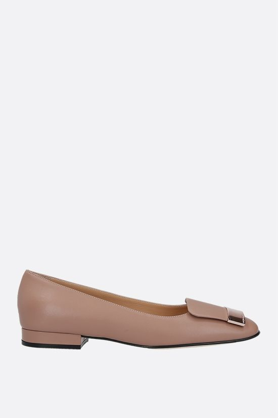 SERGIO ROSSI: sr1 soft nappa ballerinas Color Neutral_1