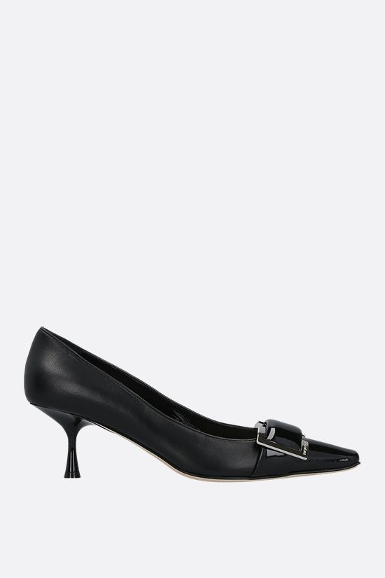SERGIO ROSSI: sr Twenty patent leather and nappa pumps Color Black_1