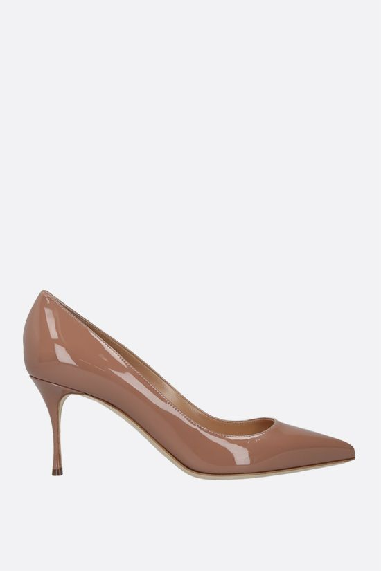 SERGIO ROSSI: Godiva patent leather pumps Color Neutral_1