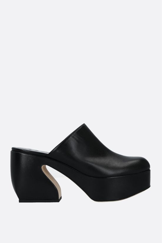 SI ROSSI: Si Rossi soft nappa mules Color Black_1