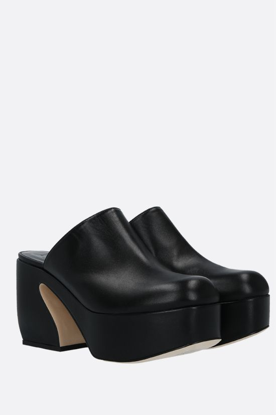 SI ROSSI: Si Rossi soft nappa mules Color Black_2