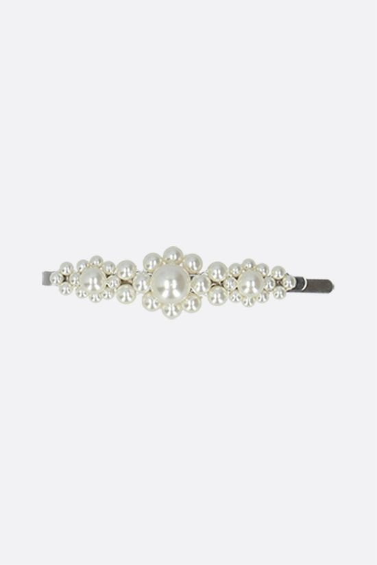 SIMONE ROCHA: pearl-embellished metal hair clip Color White_1