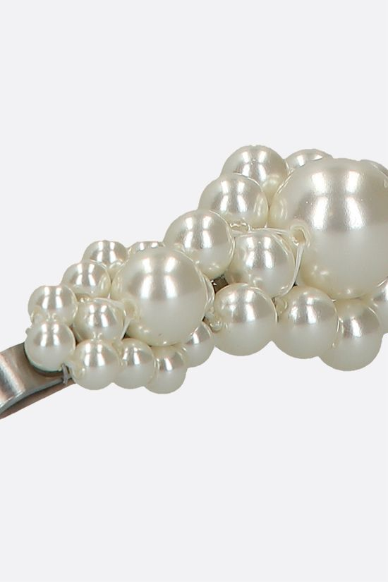 SIMONE ROCHA: pearl-embellished metal hair clip Color White_2