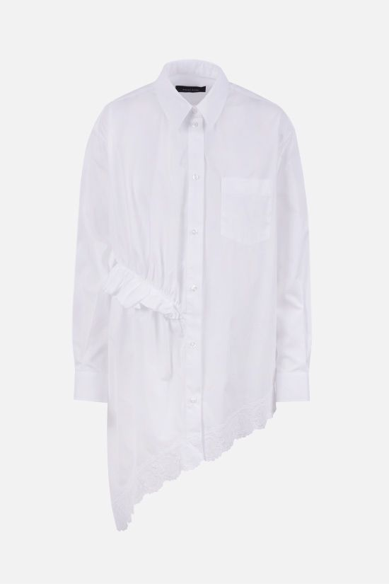 SIMONE ROCHA: drape-detailed cotton asymmetric shirt Color White_1