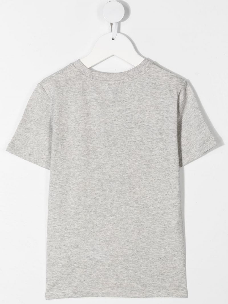 STELLA McCARTNEY KIDS: Paws Up print cotton t-shirt Color Grey_2