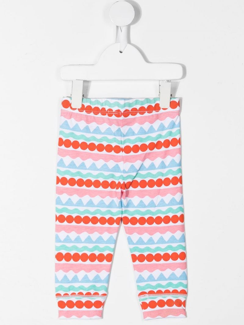 STELLA McCARTNEY KIDS: graphic striped cotton leggings Color Multicolor_2
