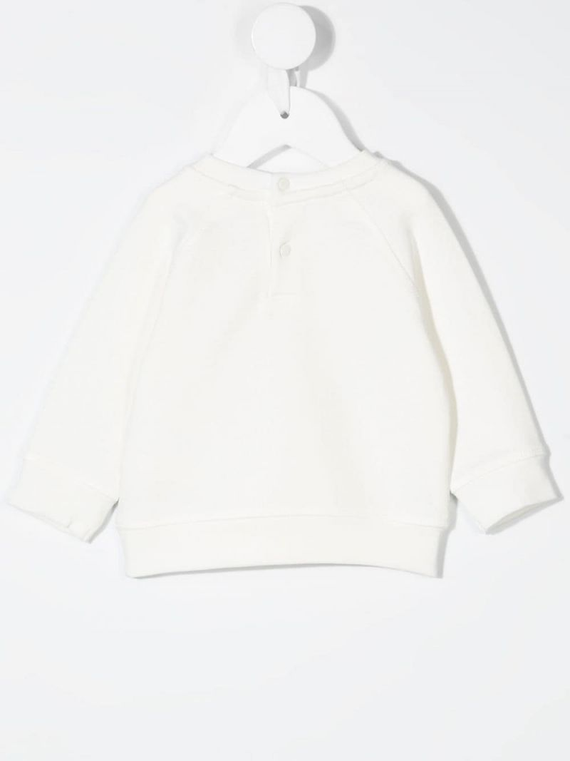 STELLA McCARTNEY KIDS: butterfly print cotton sweatshirt Color White_2