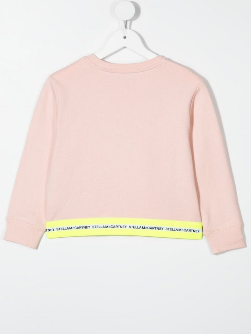 STELLA McCARTNEY KIDS: logo print cotton sweatshirt Color Multicolor_2
