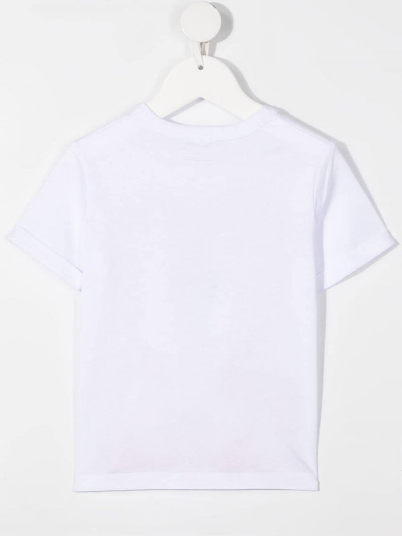 STELLA McCARTNEY KIDS: flamingo print cotton t-shirt Color White_2