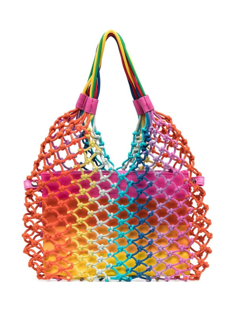 STELLA McCARTNEY KIDS: knotted rope tote bag Color Multicolor_2