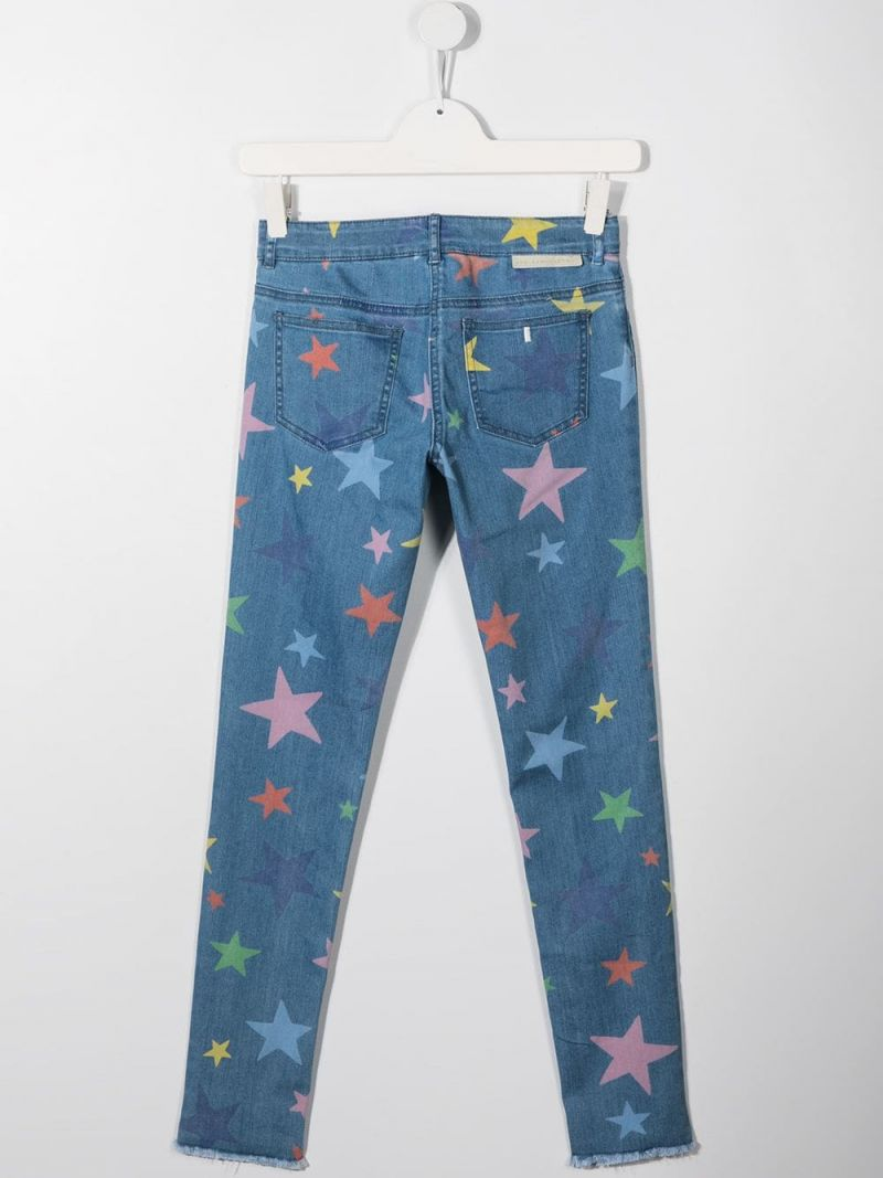 STELLA McCARTNEY KIDS: stars print skinny jeans Color Multicolor_2