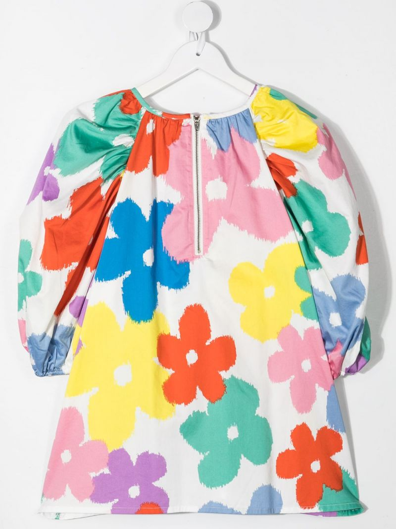 STELLA McCARTNEY KIDS: floral print cotton blouse Color Multicolor_2