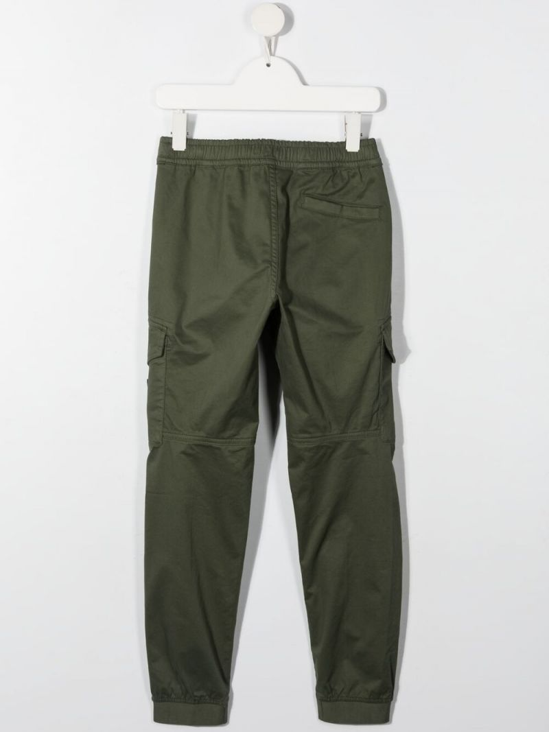 STONE ISLAND JUNIOR: stretch cotton cargo pants Color Multicolor_2