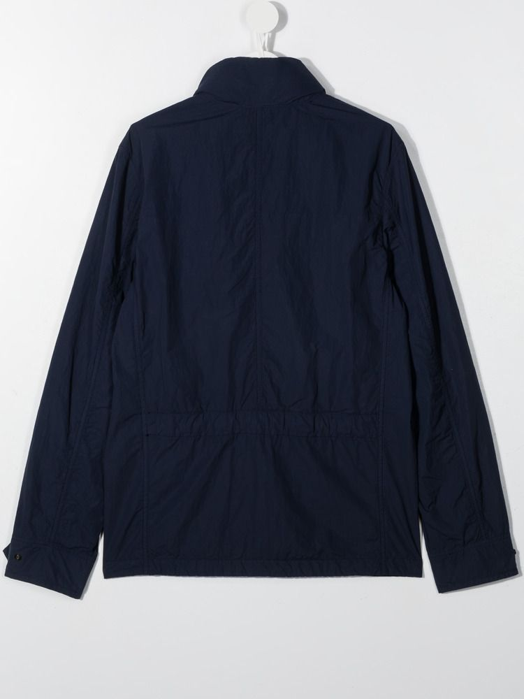 STONE ISLAND JUNIOR: technical cotton parka Color Blue_2