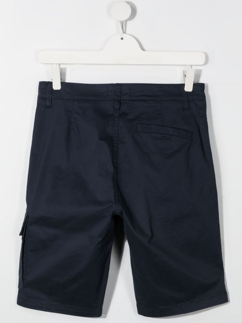 STONE ISLAND JUNIOR: stretch cotton shorts Color Blue_2