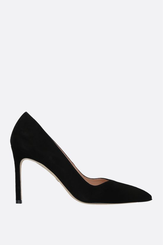 STUART WEITZMAN: Anny suede pumps Color Black_1