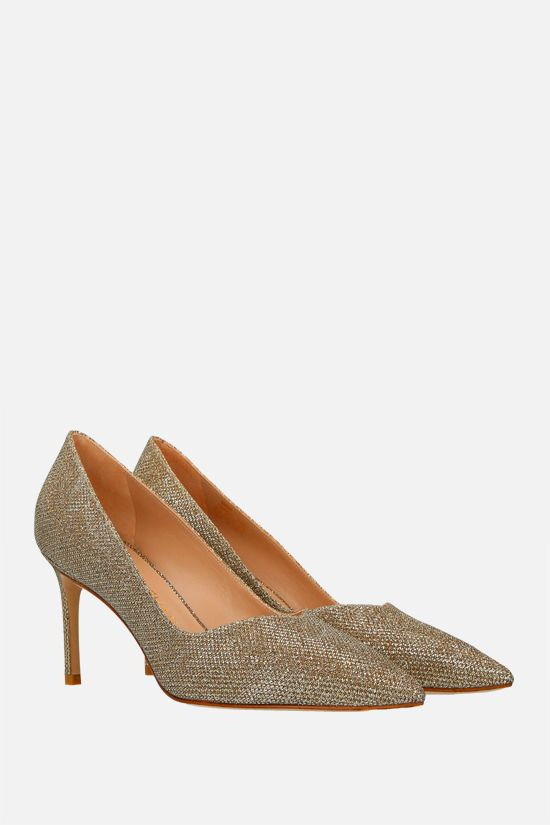 STUART WEITZMAN: Anny lurex pumps Color Gold_2