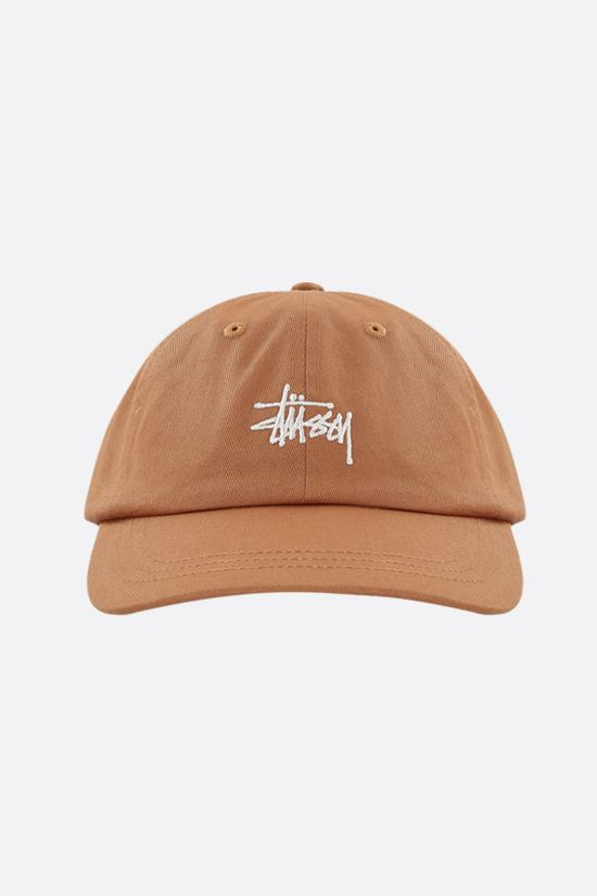STUSSY: logo embroidered gabardine baseball cap Color Green_1