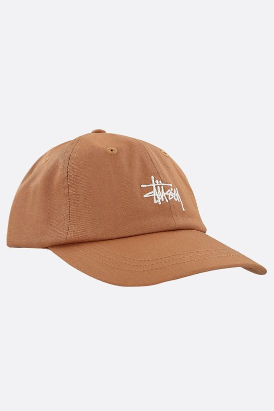 STUSSY: logo embroidered gabardine baseball cap Color Green_2