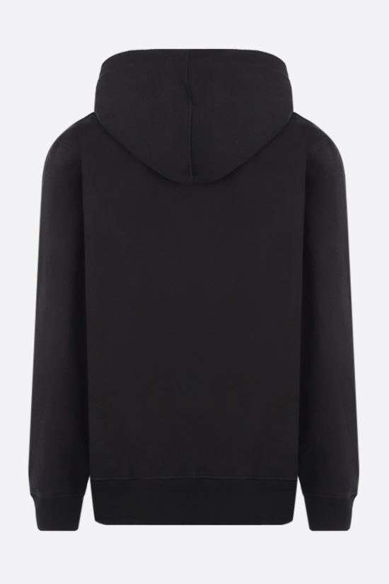 STUSSY: Basic Stussy embroidered jersey hoodie Color Black_2