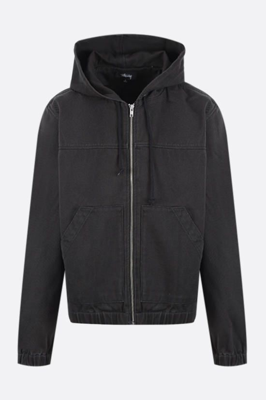 STUSSY: Solid Work cotton jacket Color Black_1