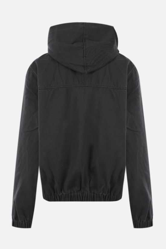STUSSY: Solid Work cotton jacket Color Black_2