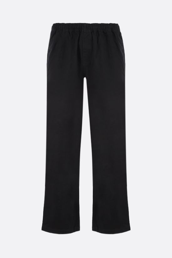 STUSSY: straight-leg cotton pants Color Black_1