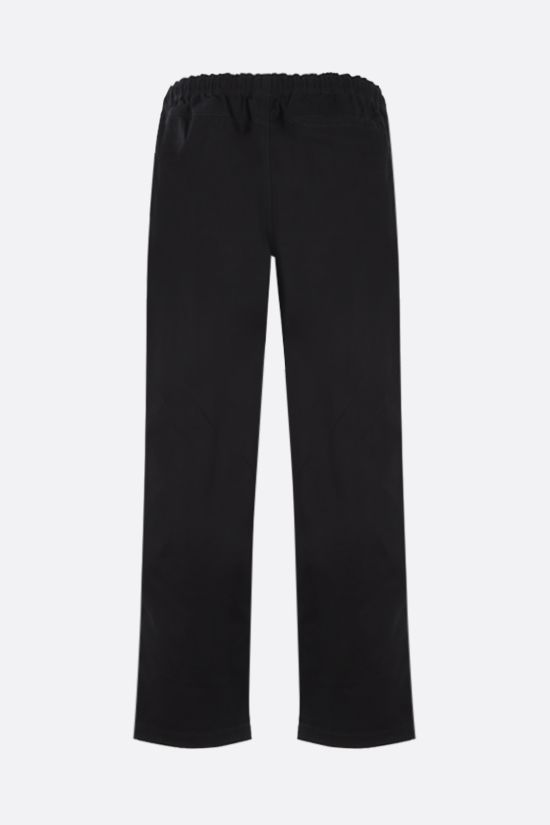 STUSSY: straight-leg cotton pants Color Black_2