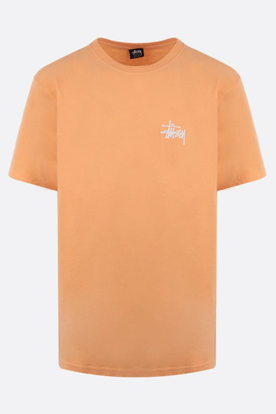 STUSSY: Basic Stussy cotton t-shirt Color Orange_1