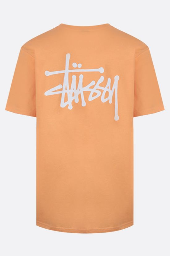 STUSSY: Basic Stussy cotton t-shirt Color Orange_2
