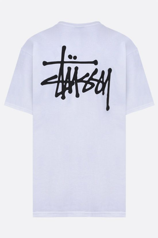 STUSSY: t-shirt Basic Stussy in cotone Colore Bianco_2