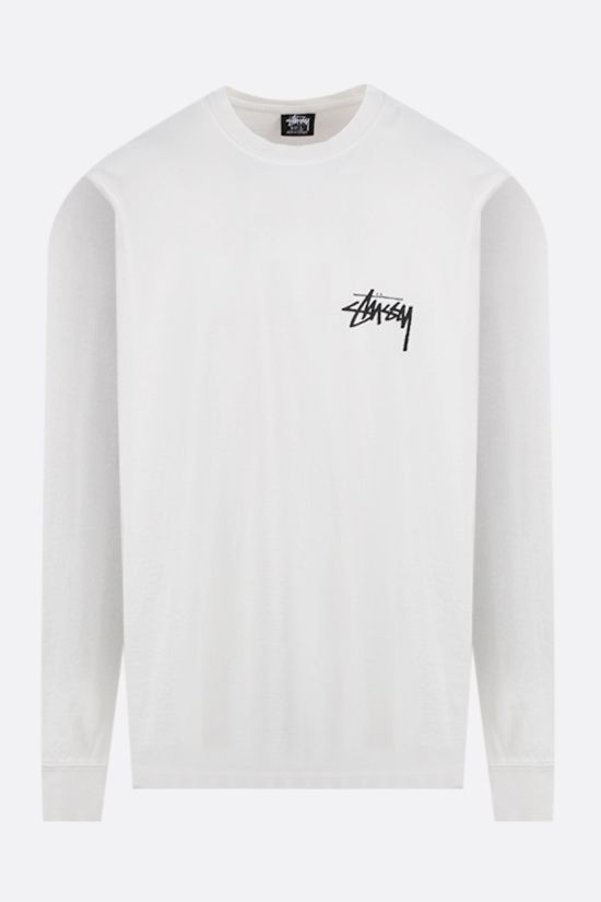 STUSSY: Spring Weeds long-sleeved cotton t-shirt Color Neutral_1
