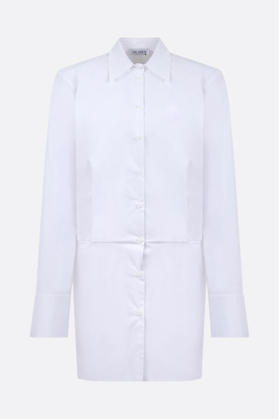 THE ATTICO: Margot cotton shirt minidress Color White_1