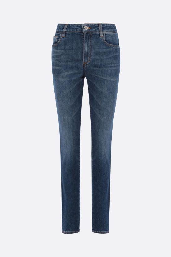 THE ATTICO: jeans skinny-fit Colore Blu_1