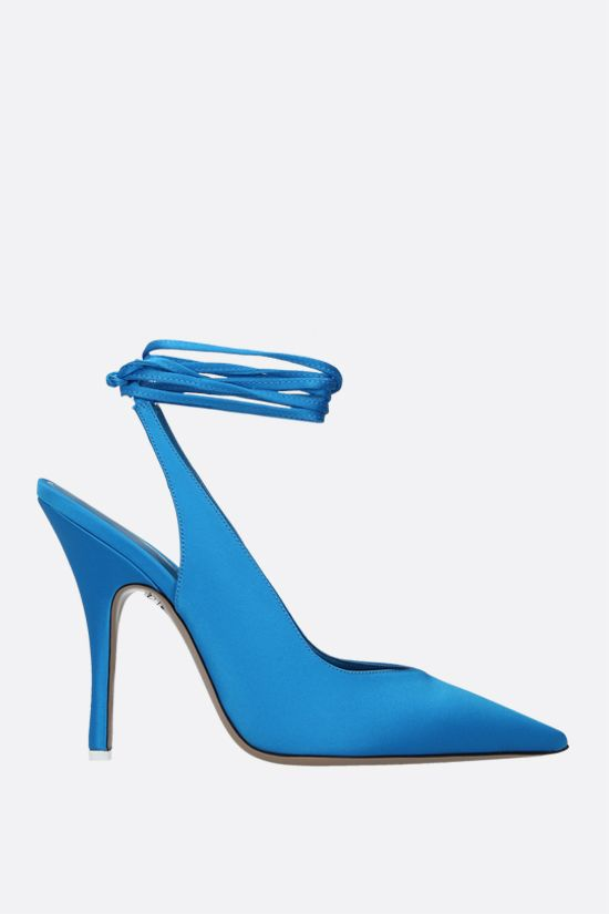 THE ATTICO: Venus satin slingbacks Color Blue_1