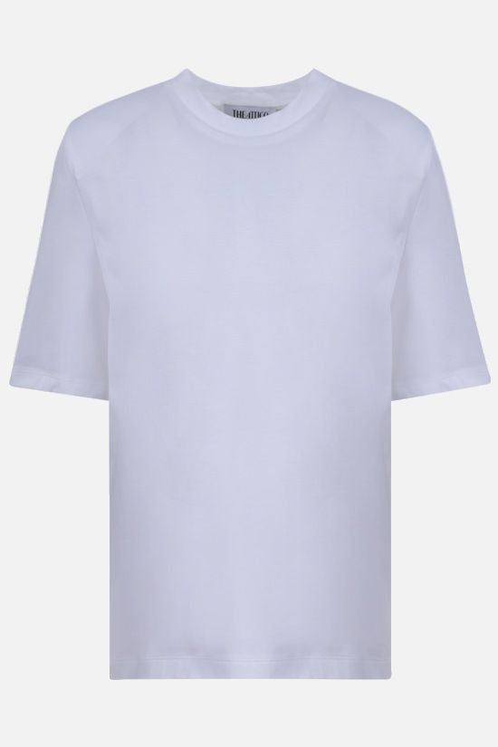 THE ATTICO: Bella cotton t-shirt Color White_1
