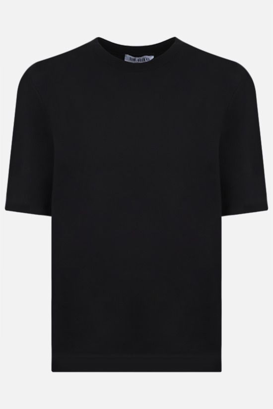 THE ATTICO: Bella cotton t-shirt Color Black_1