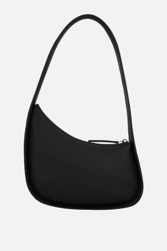 THE ROW: Half Moon smooth leather shoulder bag Color Black_1