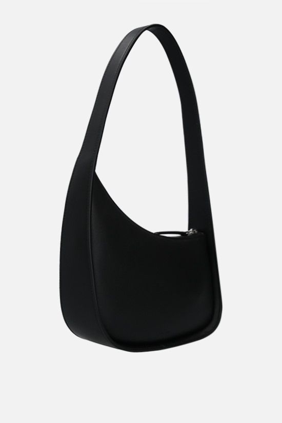 THE ROW: Half Moon smooth leather shoulder bag Color Black_2
