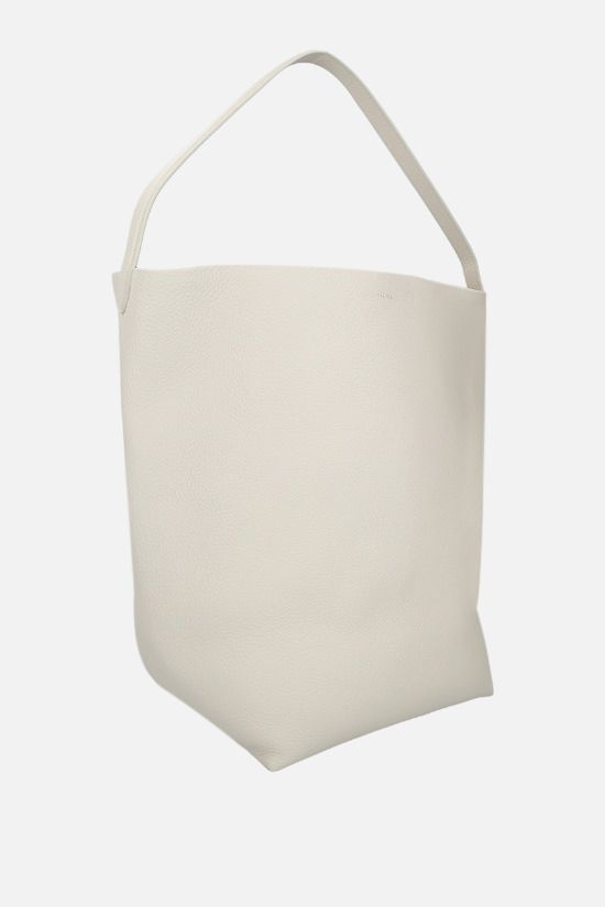THE ROW: N/S Park grainy leather shoulder bag Color White_2