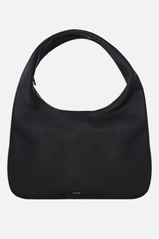 THE ROW: Everyday medium grainy leather hobo bag Color Black_1