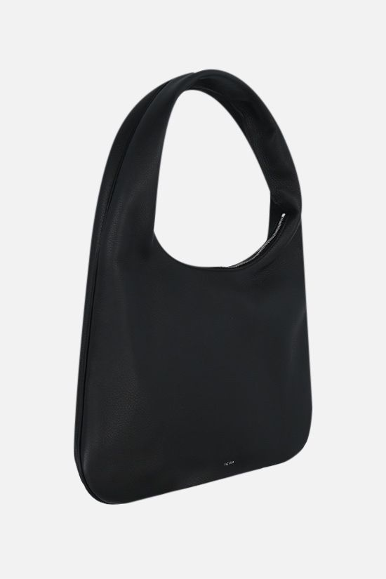THE ROW: Everyday medium grainy leather hobo bag Color Black_2