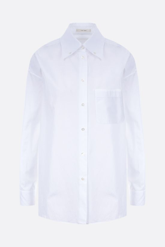 THE ROW: Gilles oversize cotton shirt Color White_1