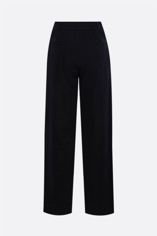 THE ROW: Cesto cotton wide-leg joggers Color Blue_2
