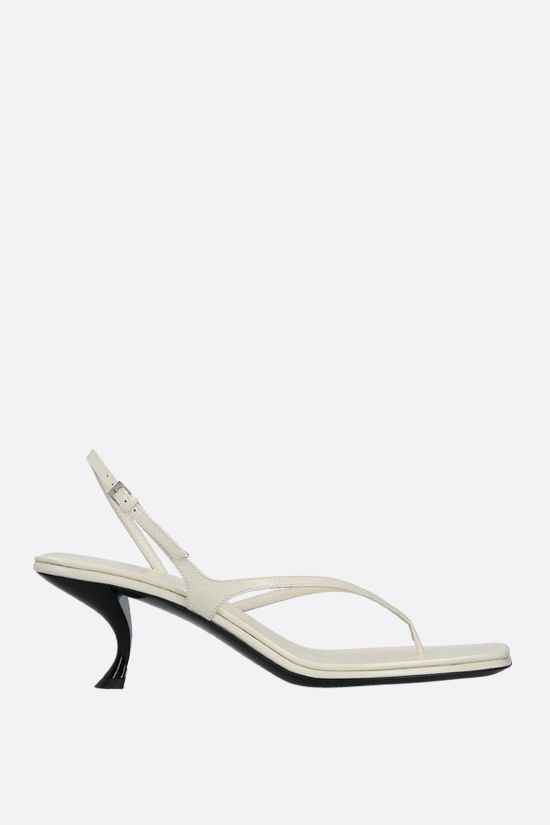THE ROW: Constance smooth leather thong sandals Color White_1